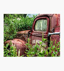 THE OLD ABANDONED FIRE ENGINE.........! Photographic Print