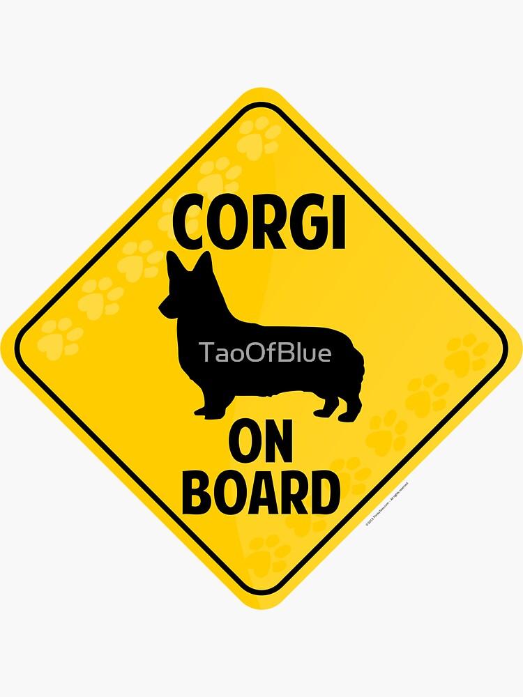 Corgi (Pembroke Welsh) On Board by TaoOfBlue
