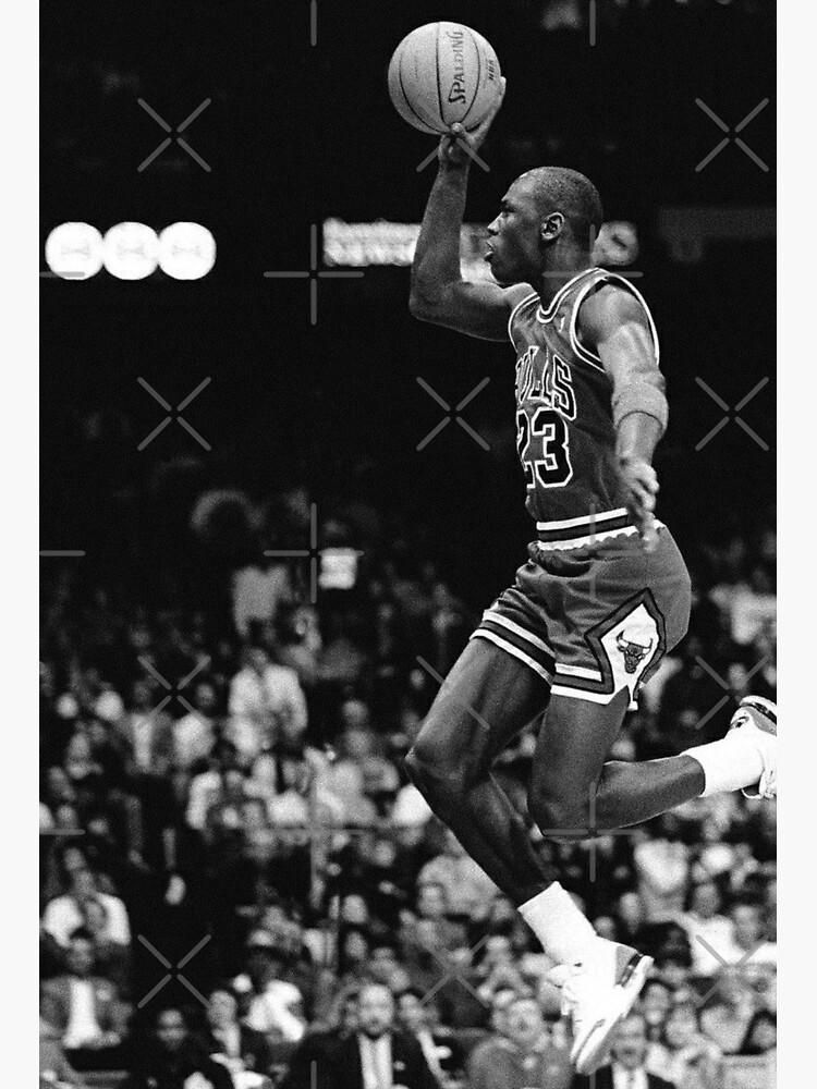 Black and White Michael Jordan Dunking