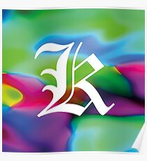 "Alphabet Flower Power ""K"" Poster"