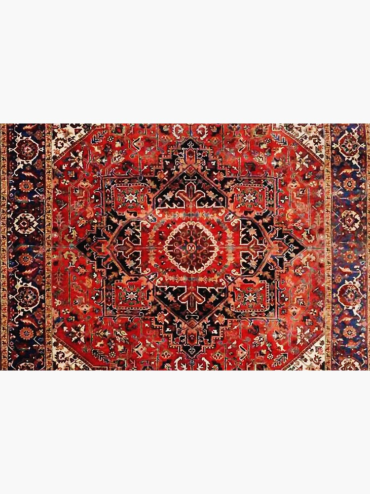 Heriz Antique Vintage Boho Persian Carpet Print by bragova