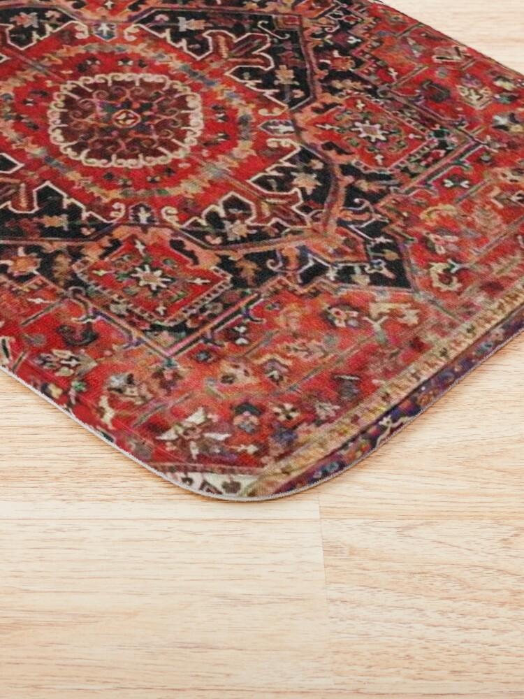 Alternate view of Heriz Antique Vintage Boho Persian Carpet Print Bath Mat