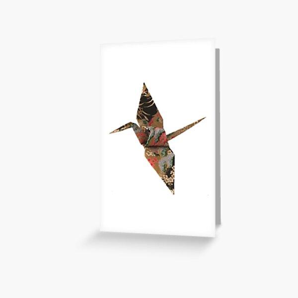 Decorative origami crane Greeting Card