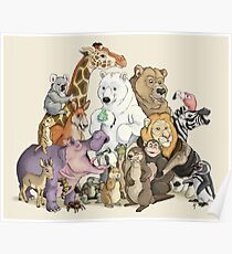 Animals of the Zoo Poster
