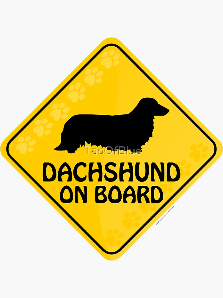 Dachshund (Long Haired) On Board by TaoOfBlue