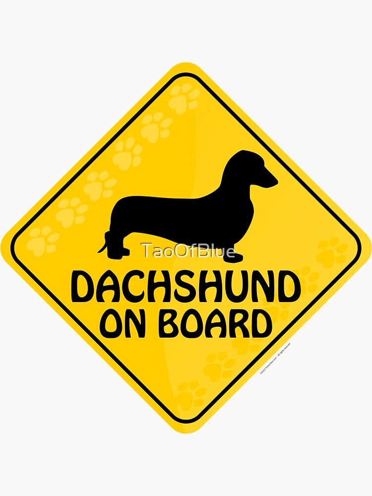 Dachshund (Smooth) On Board by TaoOfBlue