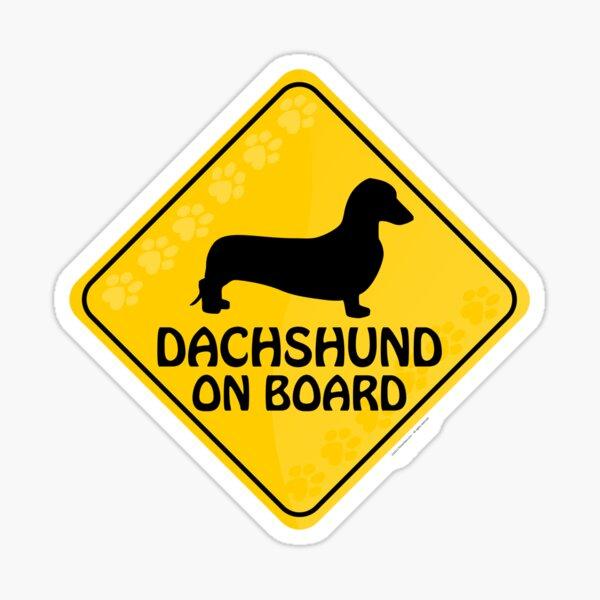 Dachshund (Smooth) On Board Sticker