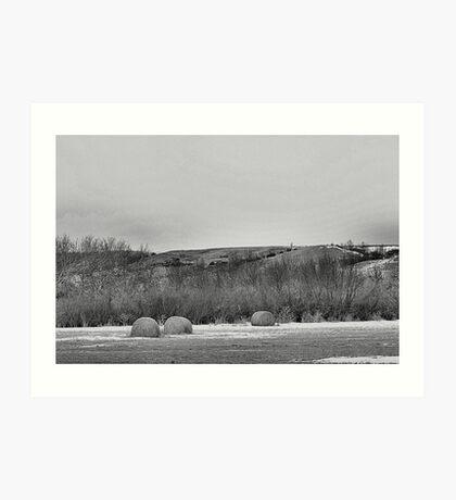 Winter Bales of The QU'APPELLE VALLEY Saskatchewan Art Print