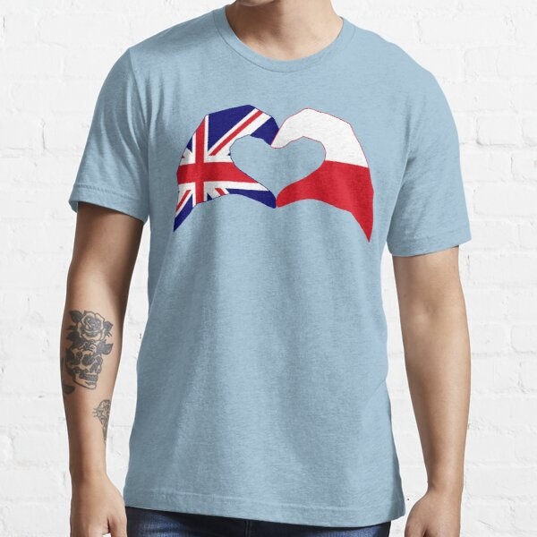 We Heart UK & Poland Patriot Flag Series Essential T-Shirt