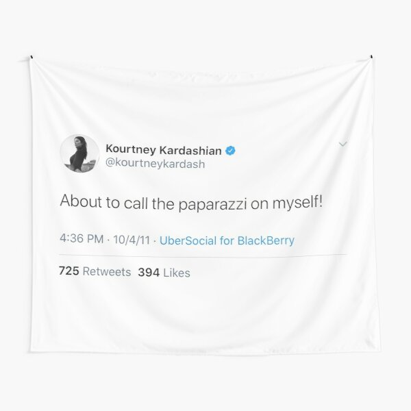Kourtney Kardashian tweet Tapestry