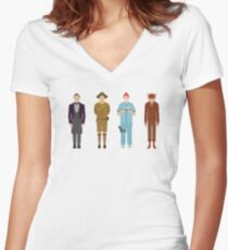 Wes Anderson Collection Women's Fitted V-Neck T-Shirt