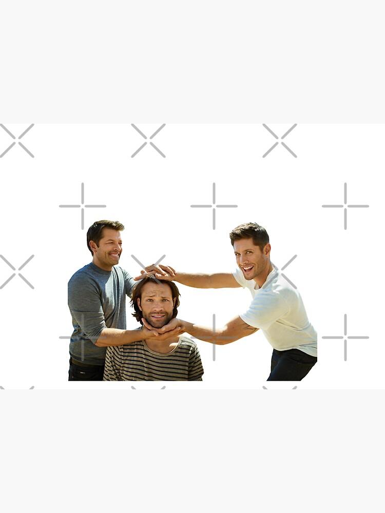 J2M #4-Jensen Ackles, Jared Padalecki, Misha Collins by gunpowdersdust