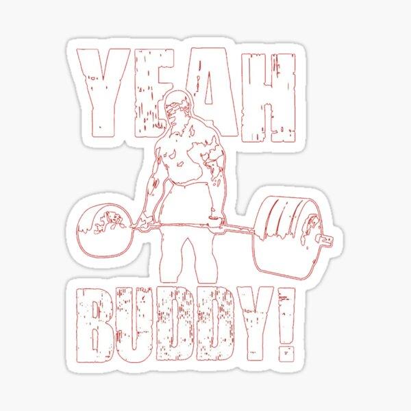 YEAH, KUMPEL! Roter Hintergrund Ronny Coleman Sammlung Sticker