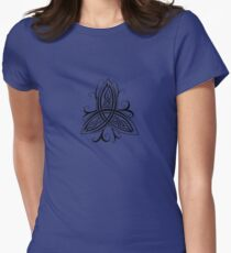 Fancy Trinity B - Knotwork - Black Women's Fitted T-Shirt