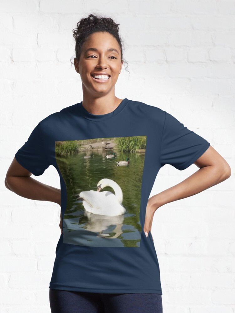 Alternate view of M.I. #65 |☼| Swan - Shot 23 (Pearson Park) Active T-Shirt