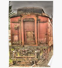 Pullman Baggage Car Poster