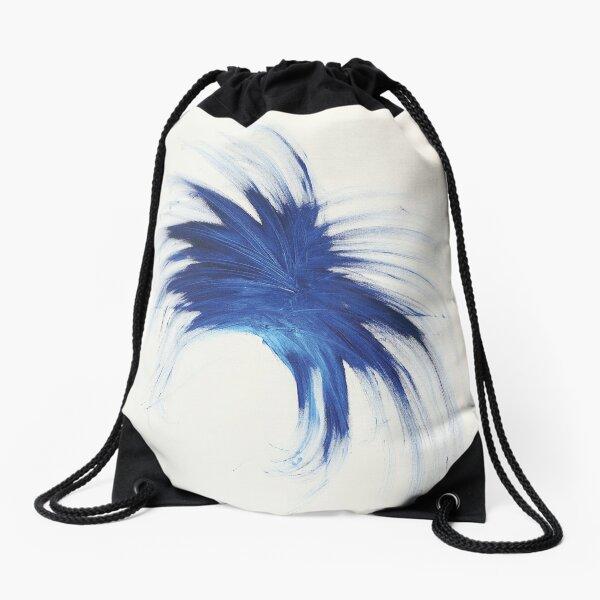 Blue Burst Drawstring Bag