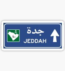 Jeddah Highway Sign, Saudi Arabia Sticker