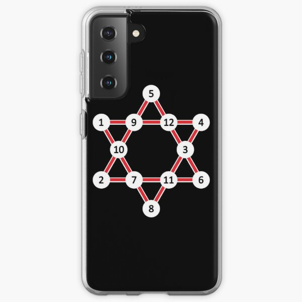 Super Magic Star Red with Numbers Samsung Galaxy Soft Case