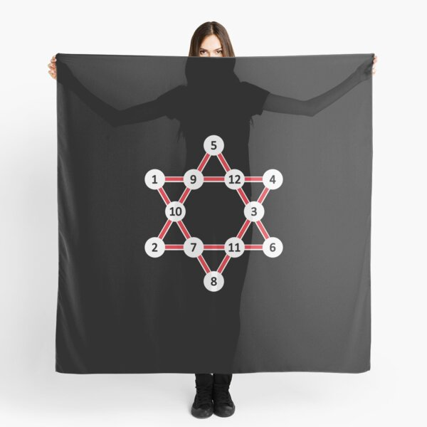 Super Magic Star Red with Numbers Scarf