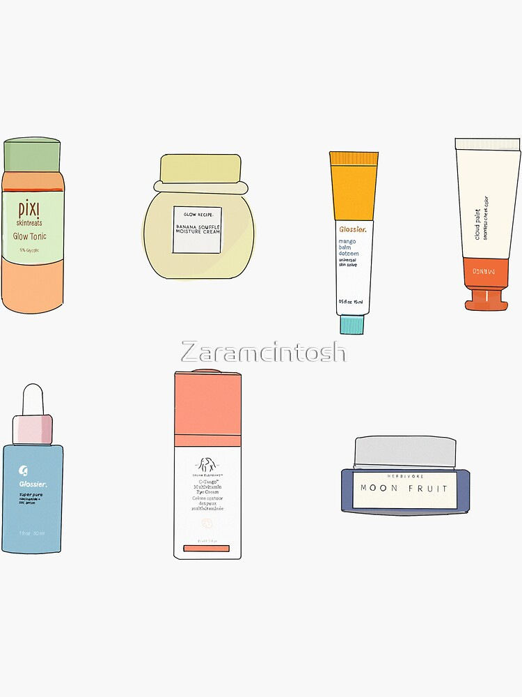 Skincare Product Stickers by Zaramcintosh