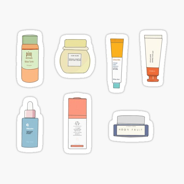 Skincare Product Stickers Sticker