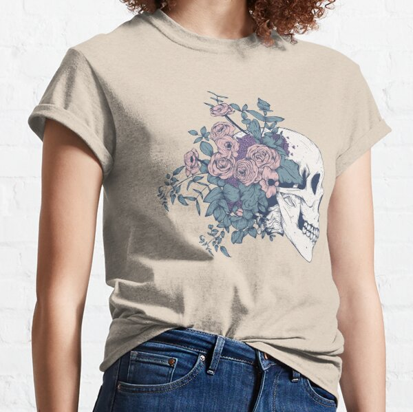 Floral Skull Beauty Classic T-Shirt