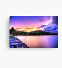 Sunset Strand Canvas Print