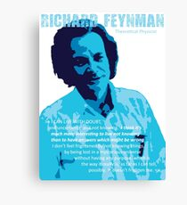 Richard P. Feynman, Theoretical Physicist (Blue) Canvas Print