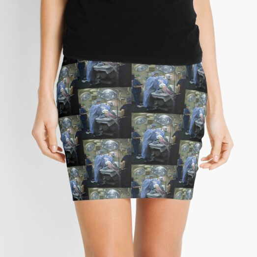 Its A Wrap - Original painting oil on canvas by Avril Thomas Mini Skirt