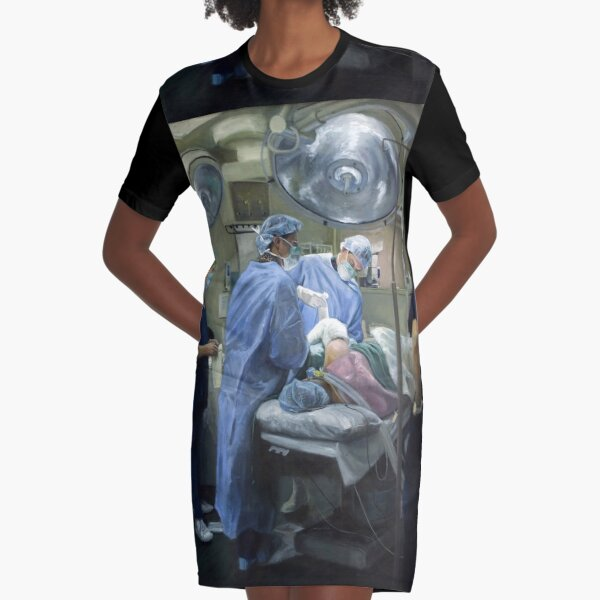 Its A Wrap - Original painting oil on canvas by Avril Thomas Graphic T-Shirt Dress