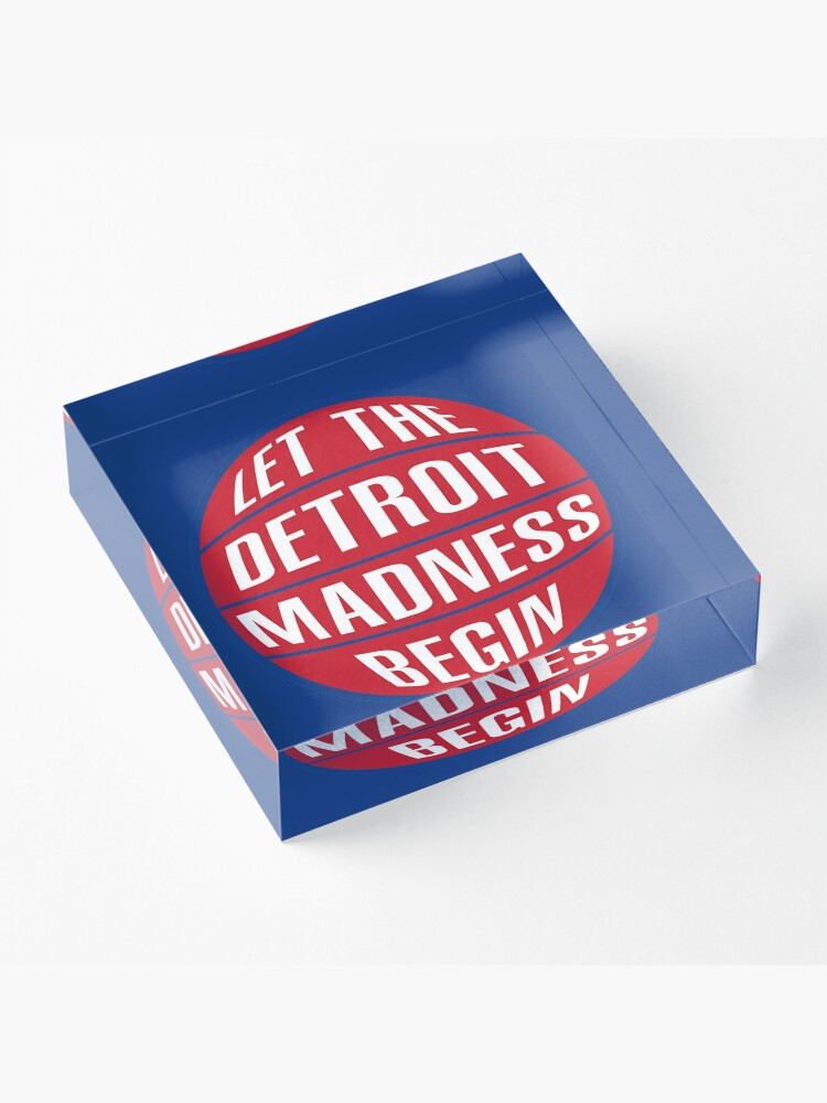 Alternate view of Let the Detroit Madness Begin - Basketball Design Acrylic Block