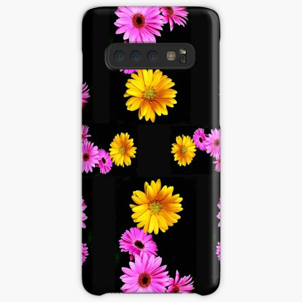 Pink and Yellow Gerberas  face mask Samsung Galaxy Snap Case