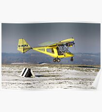 Yellow Thruster lands at Compton Abbas Poster