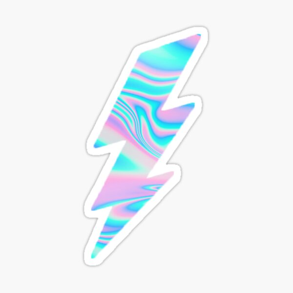 holographic lightning bolt Sticker