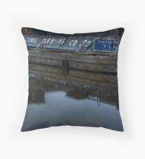 Barge, Gloucester Docks, Gloucester Throw Pillow