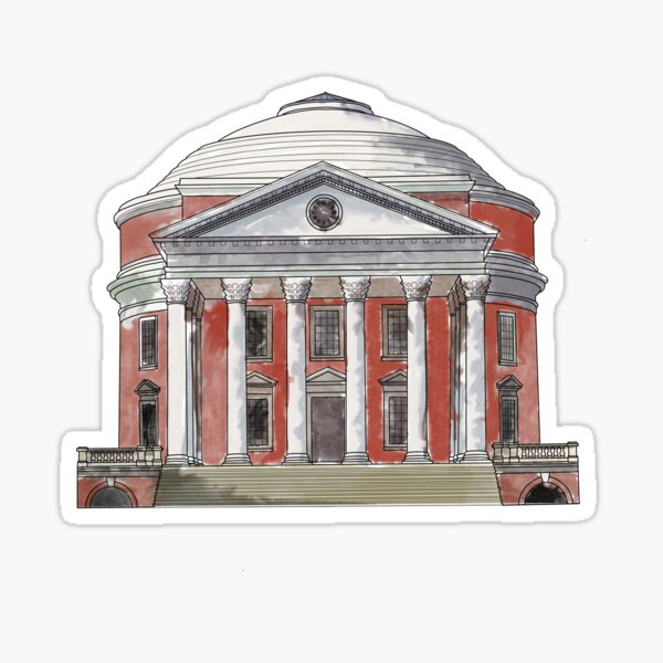 Full Color UVA Rotunda Sticker