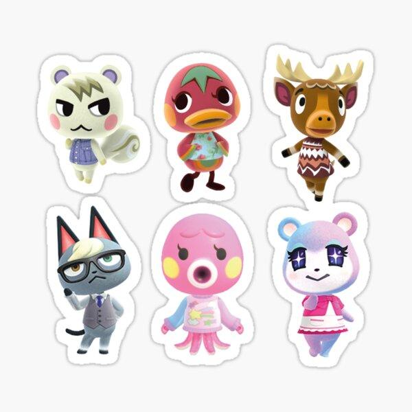 Personnages traversant les animaux Sticker
