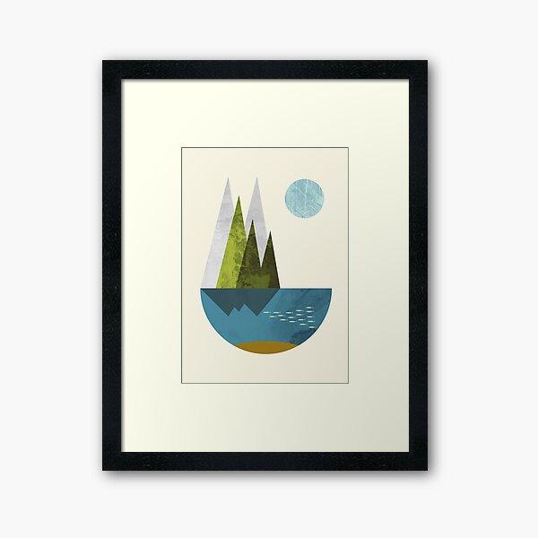 Earth, geometric print Framed Art Print