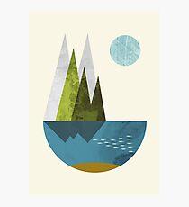 Earth, geometric print Photographic Print