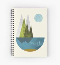 Earth, geometric print Spiral Notebook