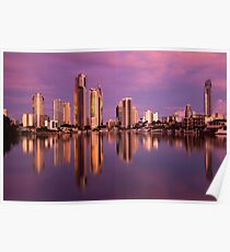 Surfers Paradise Pink Poster