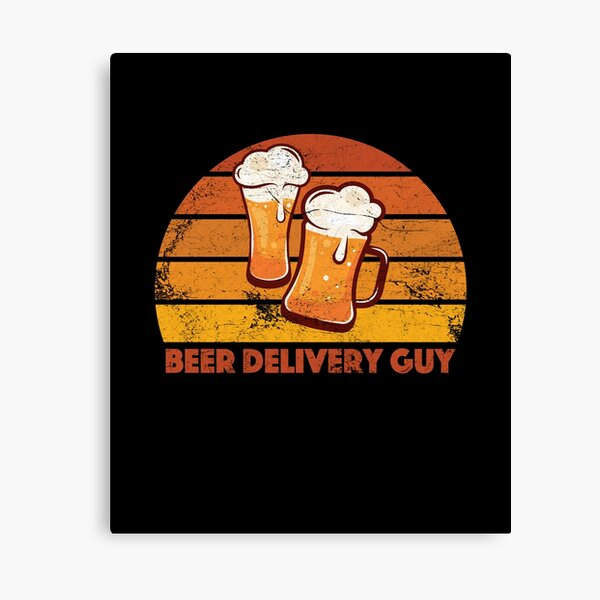 Beer Delivery Guy Funny Distressed Canvas Print