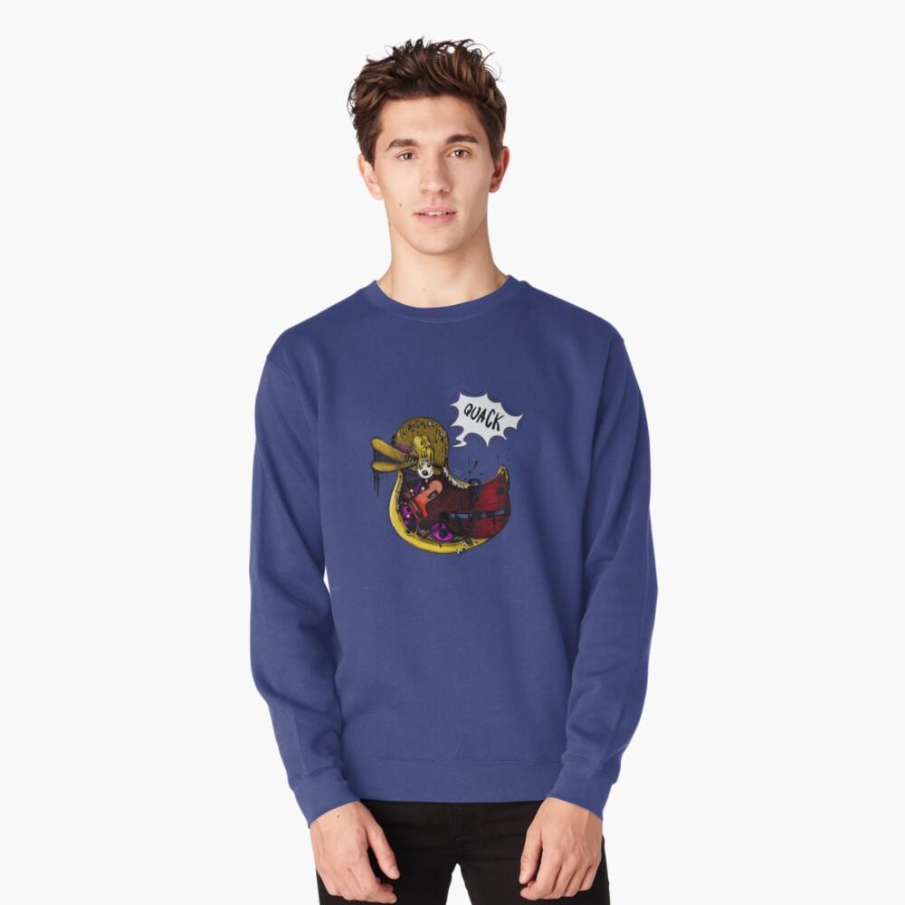 rubber. Pullover Sweatshirt