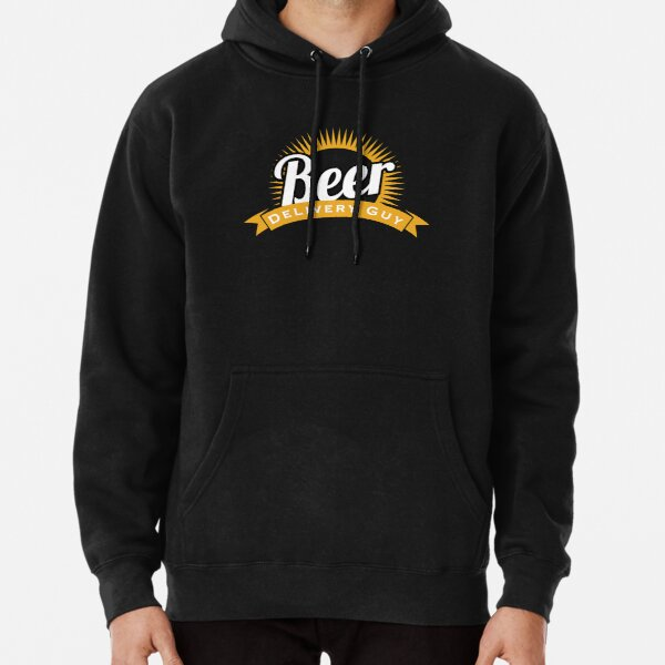 Beer Delivery Guy Funny Logo Pullover Hoodie