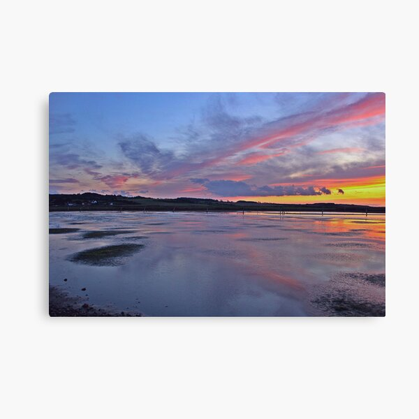 Sunset over Salthouse Marshes Canvas Print