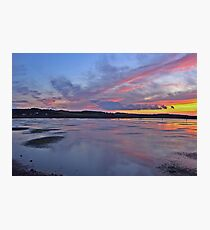 Sunset over Salthouse Marshes Photographic Print