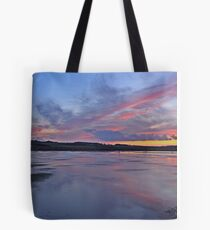 Sunset over Salthouse Marshes Tote Bag