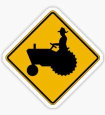 Farm Machinery Traffic, Warning Sign, USA Sticker