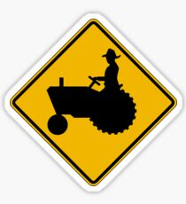 Farm Machinery Traffic, Warning Sign, USA Sticker